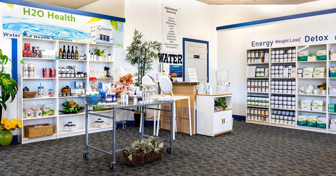 H2O Heallth Store (water and health solutions) focuses on health and wealth